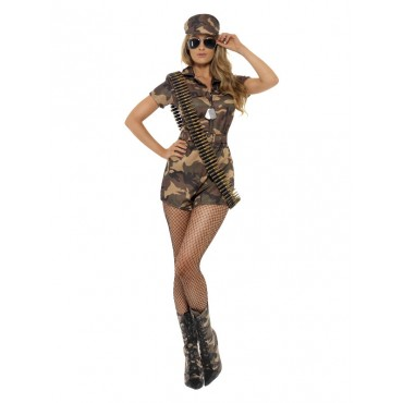 Costume Adult Army Girl XS