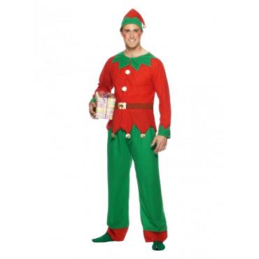 Costume Adult Elf Man Red...