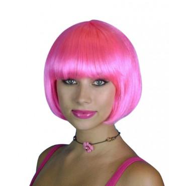 Wig Bob Short Hot Pink Premium