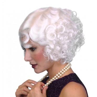 Wig Cabaret White Premium