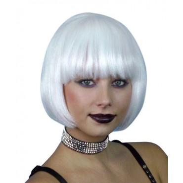 Wig Bob Short White Premium