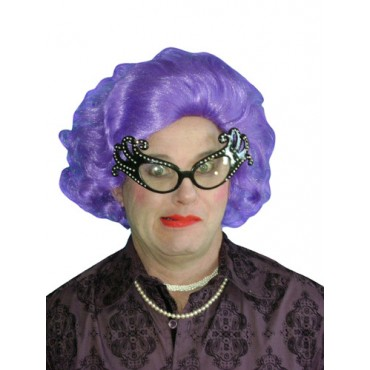 Wig Dame Edna Purple Deluxe