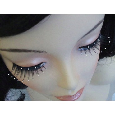 Eyelashes Black Spiky with...