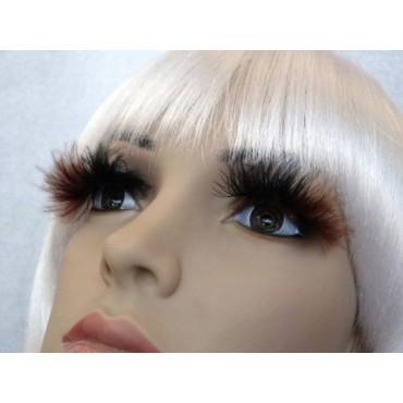 Eyelashes Black Brown Fluffy