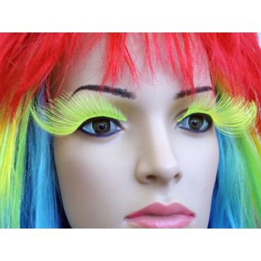 Eyelashes Neon Green Long...