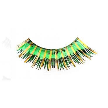 Eyelashes Green & Gold...