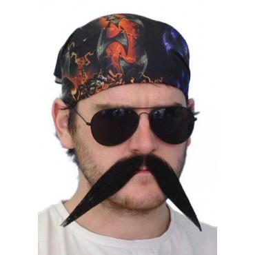 Moustache Biker Big Black