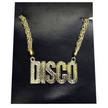 Necklace Chain Disco Gold...
