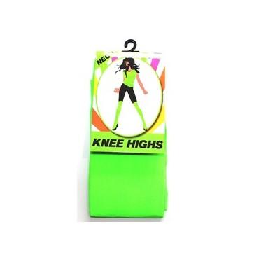 Tights Knee Highs Neon Green