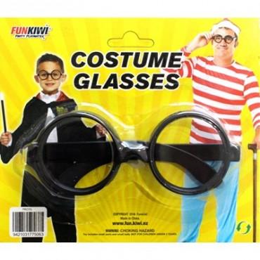 Glasses Nerd Black No Lenses