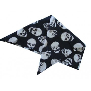 Bandana Black with Skulls