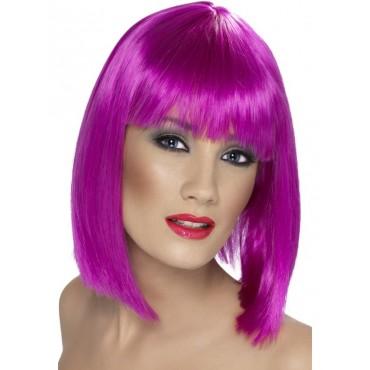 Wig Bob Purple Blunt Cut