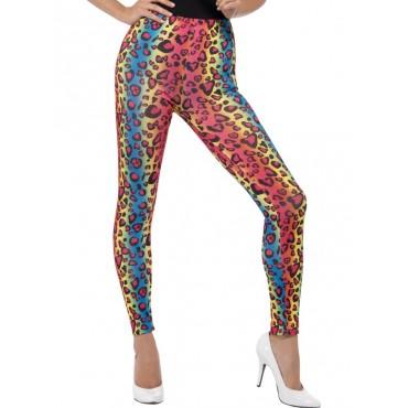 Leggings Neon Leopard Print