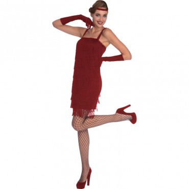 Costume Adult Flapper Red...