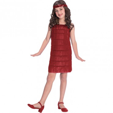 Costume Child Flapper Red 8-10
