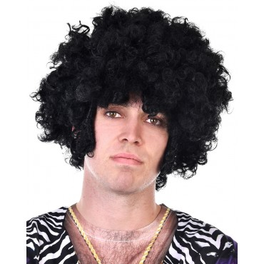 Wig Afro Black with Chops