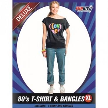 Costume Adult 80's Shirt...