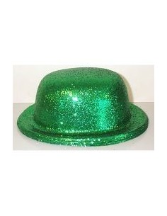 Bowler Hat Glitter Green