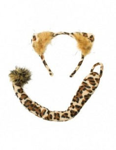 Dress Up Kit Leopard Ears &...