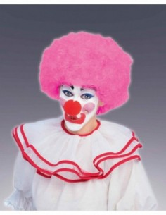 Wig Afro Clown Pink