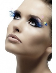 Eyelashes Black Blue With...