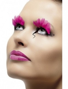 Eyelashes Pink Feathers