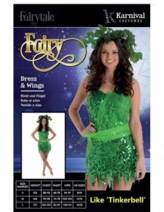 Costume Adult Fairy Green L