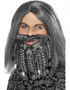 Wig & Beard Pirate Grey