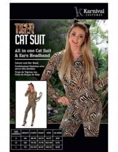 Costume Adult Tiger Cat L