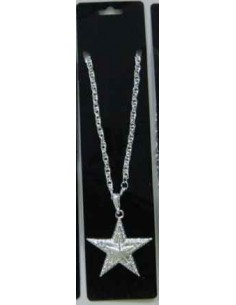 Necklace Star Metal Silver