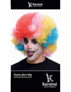 Wig Afro Clown Multi Coloured