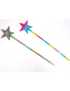 Wand Rainbow Star Glitter