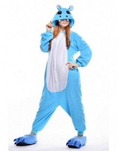 Onesie Hippo Blue L