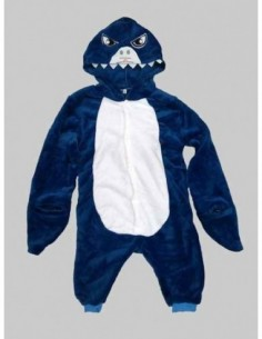 Onesie Child Shark Blue