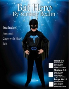 Costume Child Batman 10-12
