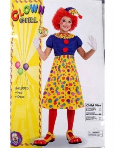 Costume Child Clown Girl 8-10