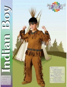 Costume Child Indian Boy 10-12