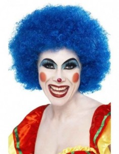 Wig Afro Clown Blue