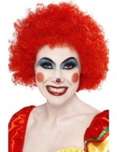 Wig Afro Clown Red