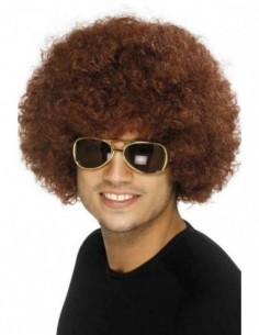Wig Afro Funky Brown