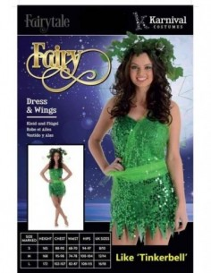 Costume Adult Fairy Green S