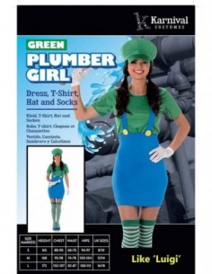 Costume Adult Luigi Female S