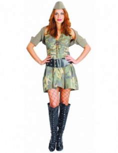 Costume Adult Army Girl Deluxe