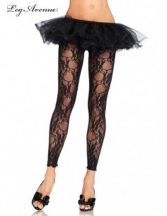 Tights Footless Floral Lace...