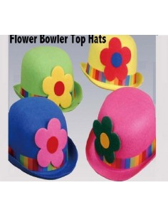 Hat Bowler Clown Felt Assorted