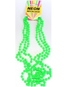 Necklace Beads Neon Green