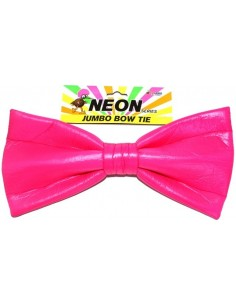 Bow Tie Jumbo Neon Pink