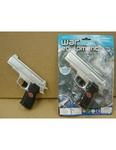 Gun Pistol Silver or Black