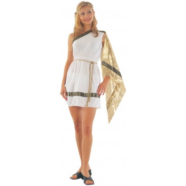 Costume Adult Toga Dress M