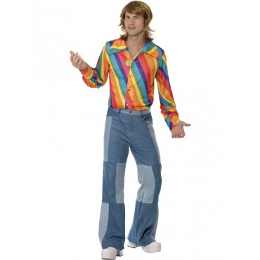 Costume Adult 70's Rainbow...